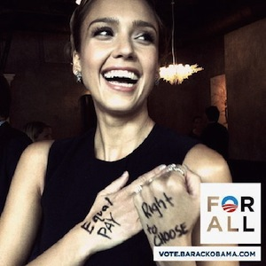 Jessica Alba gleefully pledging to support a dictator
