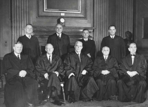 A picture of Justice Hugo Black and his cohorts